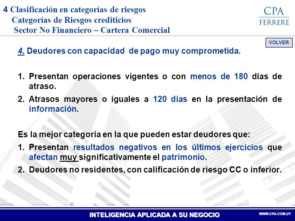 INTELIGENCIA APLICADA A SU NEGOCIO WWW.CPA.COM.UYWWW.CPA.COM.UY 5.