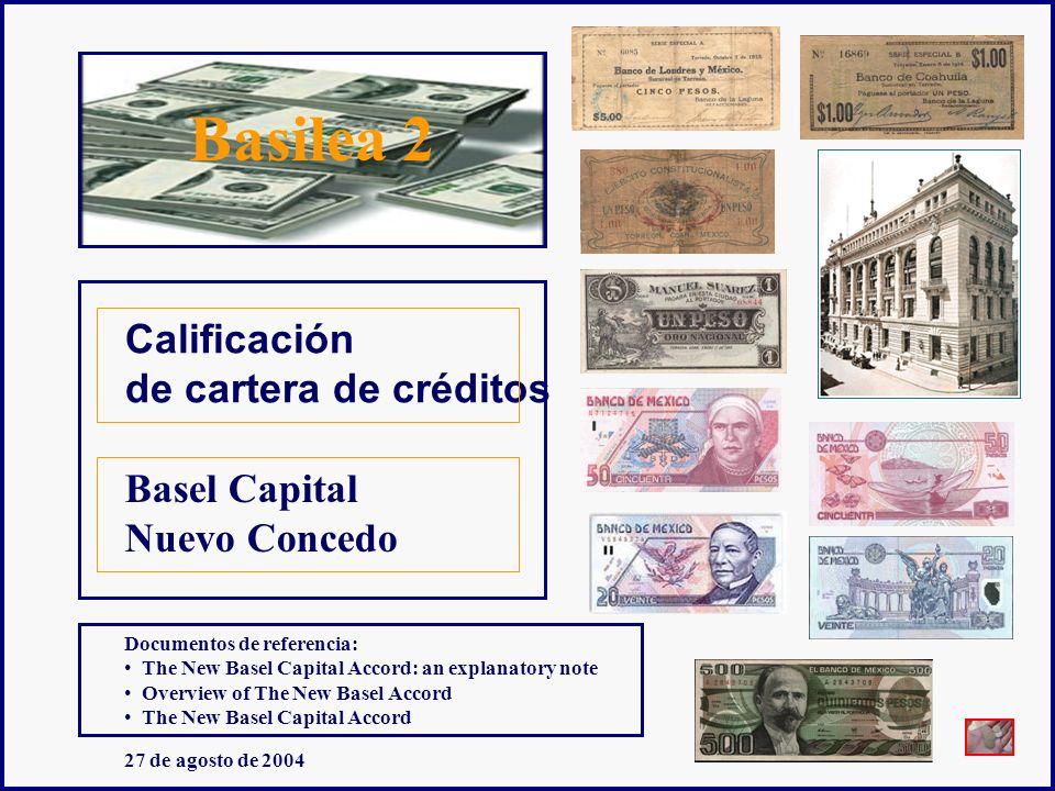Basilea 2 Basel Capital Nuevo Concedo Calificación de cartera de créditos Documentos de referencia: The New Basel Capital Accord: an explanatory note