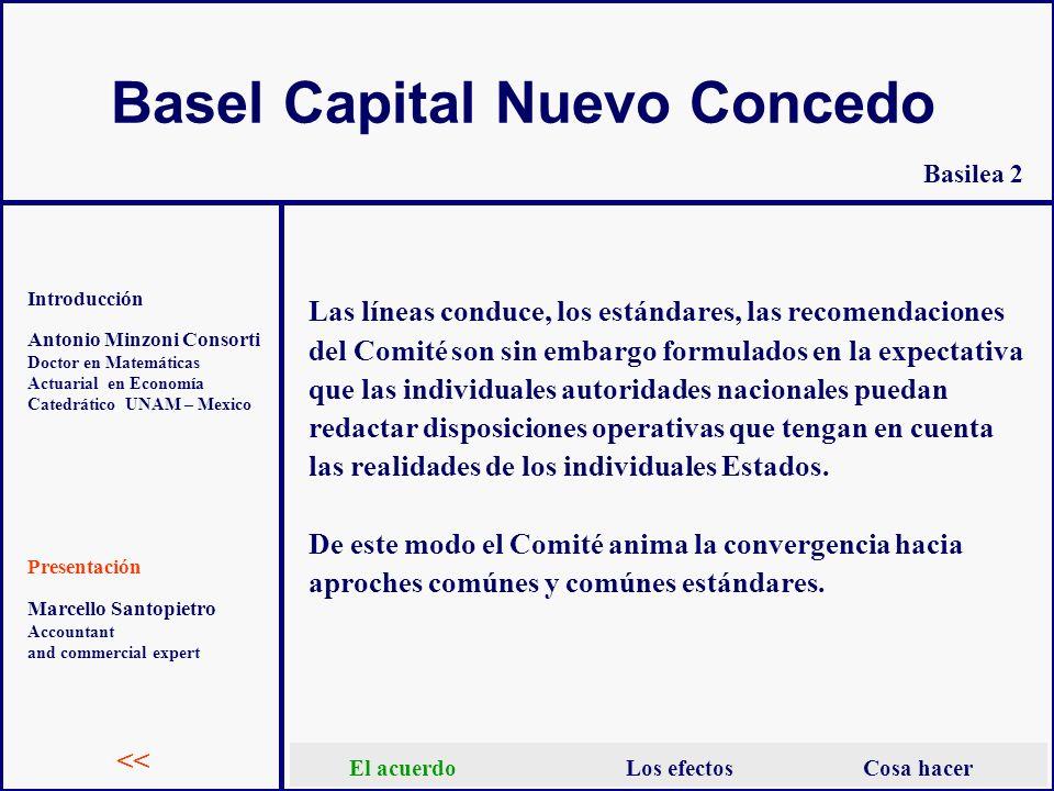 Basel Capital Nuevo Concedo Antonio Minzoni Consorti Doctor en Matemáticas Actuarial en Economía Catedrático UNAM – Mexico Introducción Presentación B