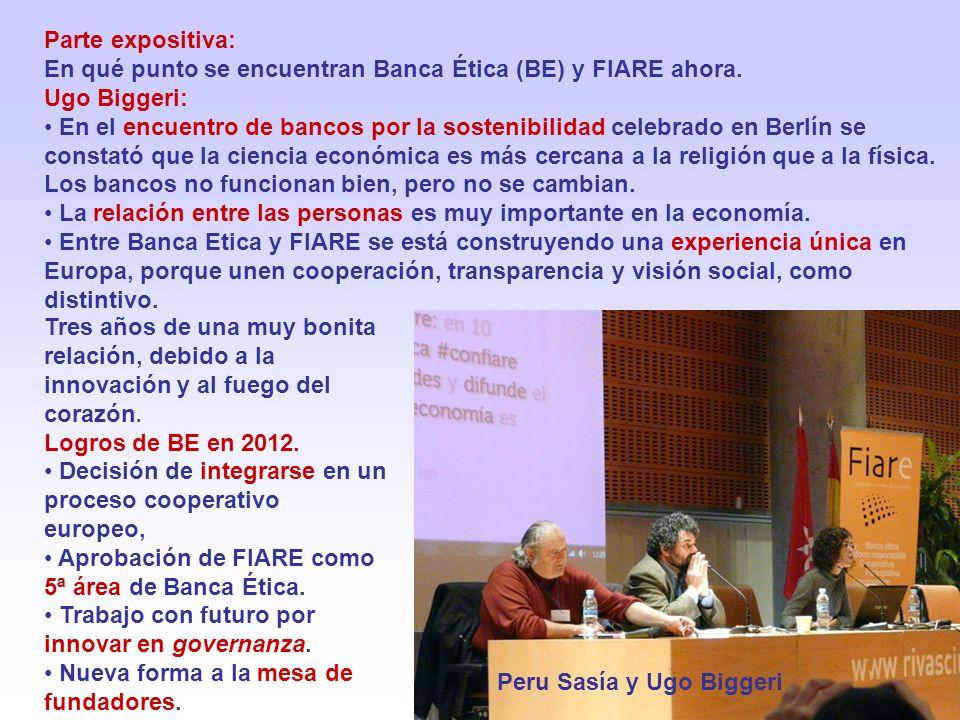 Parte expositiva: En qué punto se encuentran Banca Ética (BE) y FIARE ahora.