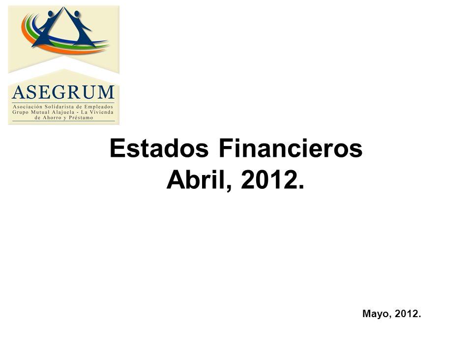 Estados Financieros Abril, 2012. Mayo, 2012.