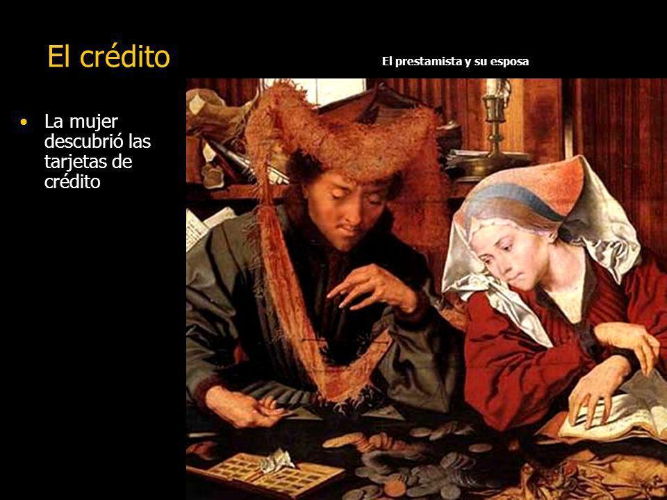 El crédito El hombre descubrió las transacciones y creó las tarjetas de crédito.