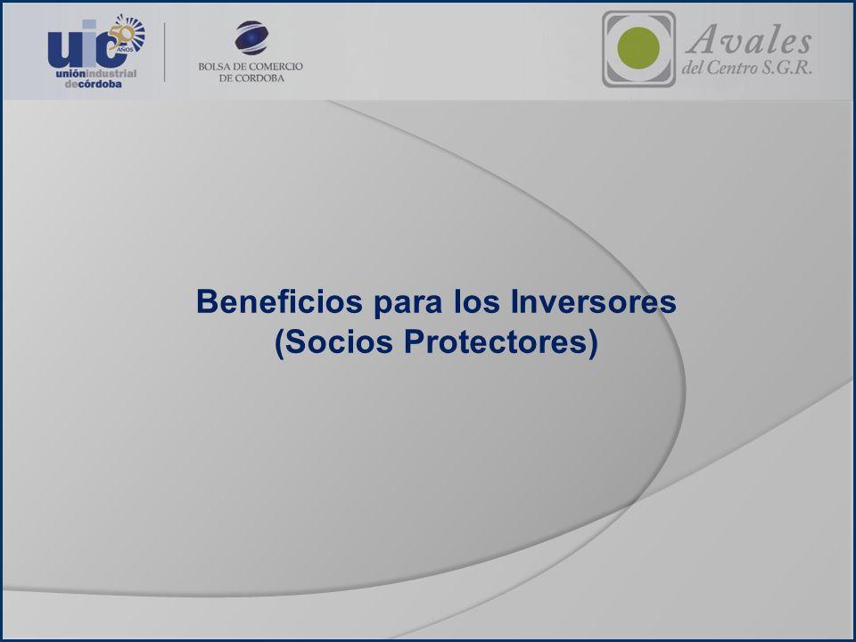 Beneficios para los Inversores (Socios Protectores)