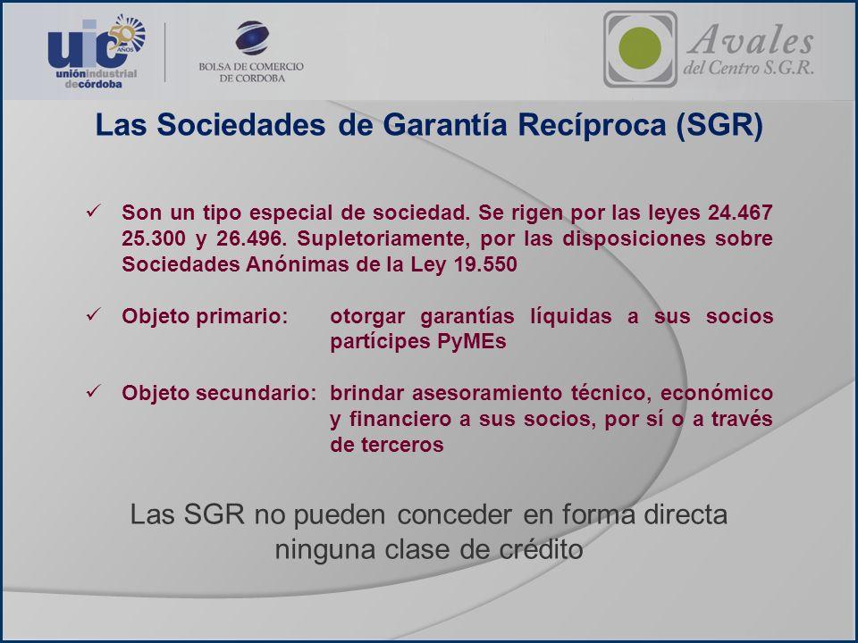Integrantes de la SGR Socios Partícipes Socios Protectores Capital de la Sociedad de Garantía Recíproca Aporte de capital Aporte de capital Acc.