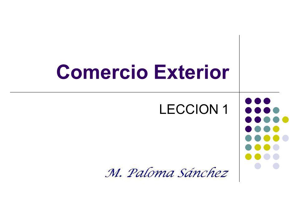Comercio Exterior LECCION 1
