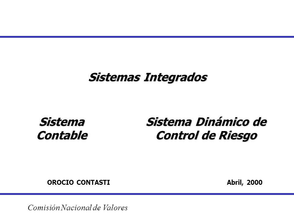 Sistemas Integrados OROCIO CONTASTI Abril, 2000 Comisión Nacional de Valores Sistema Contable Sistema Dinámico de Control de Riesgo