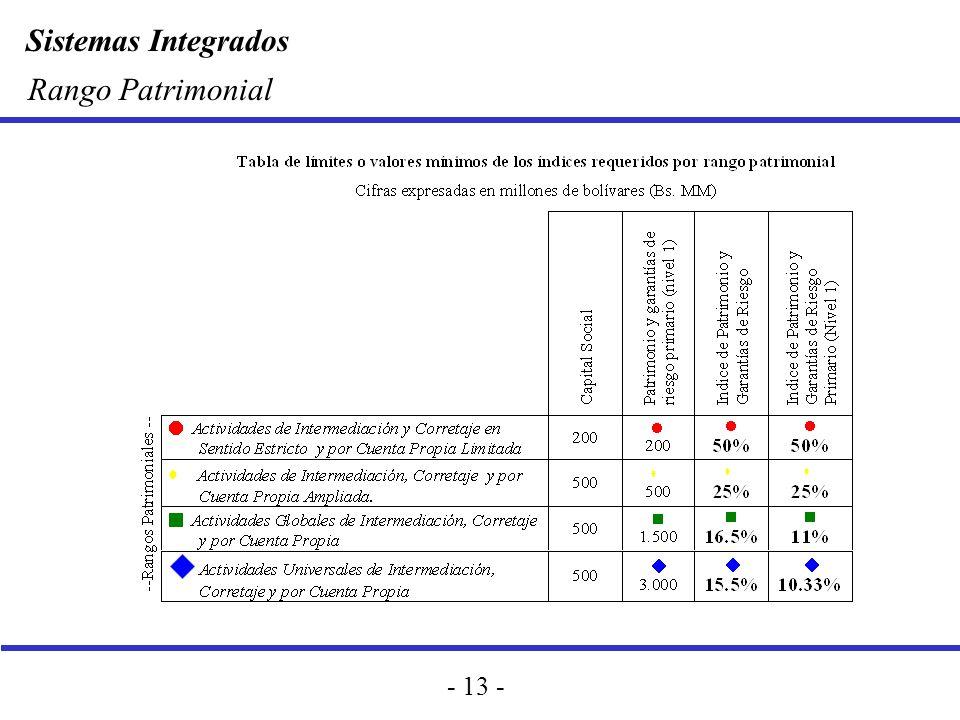 Sistemas Integrados - 13 - Rango Patrimonial