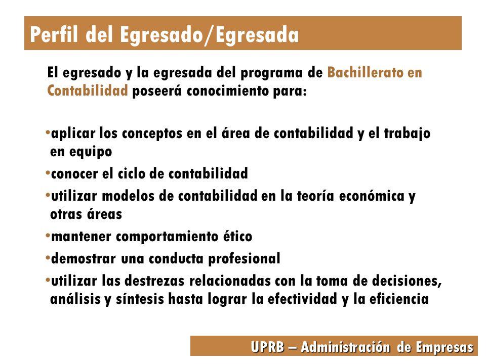 UPRB – Administración de Empresas Este bachillerato provee al estudiante la oportunidad de especializarse en su área de preferencia en Administración de Empresas, además de obtener preparación general.