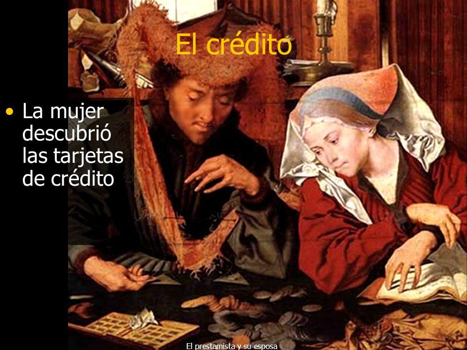 El crédito El hombre descubrió las transacciones y creó las tarjetas de crédito. Vidrieras