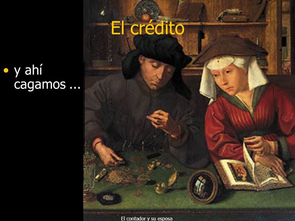 El crédito La mujer descubrió las tarjetas de crédito El prestamista y su esposa