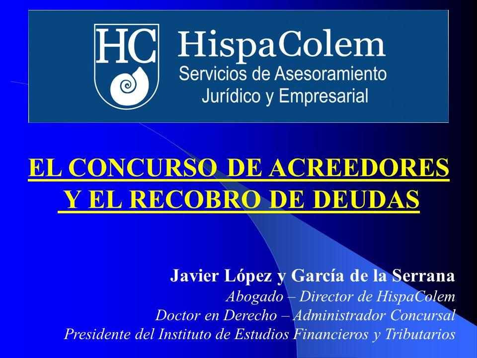 Javier López y García de la Serrana Abogado – Director de HispaColem Doctor en Derecho – Administrador Concursal Presidente del Instituto de Estudios