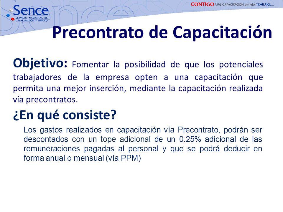 Objetivo: Fomentar la posibilidad de que los potenciales trabajadores de la empresa opten a una capacitación que permita una mejor inserción, mediante