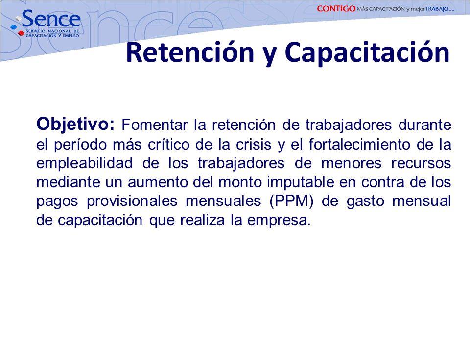 Objetivo: Fomentar la retención de trabajadores durante el período más crítico de la crisis y el fortalecimiento de la empleabilidad de los trabajador