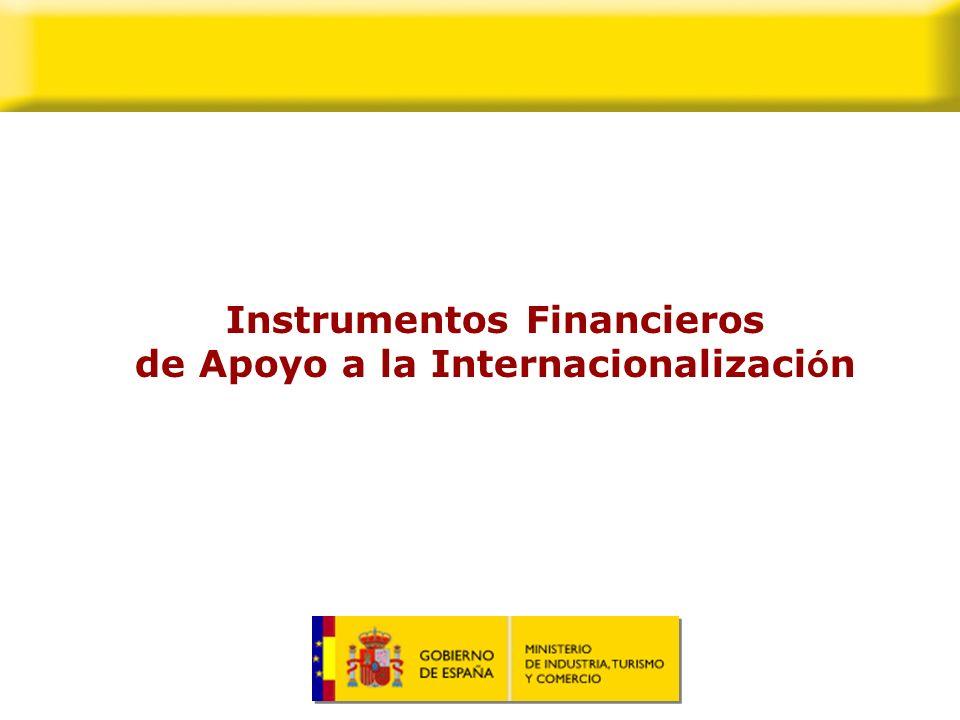 Sumario 1.La importancia del apoyo financiero oficial a la internacionalización.