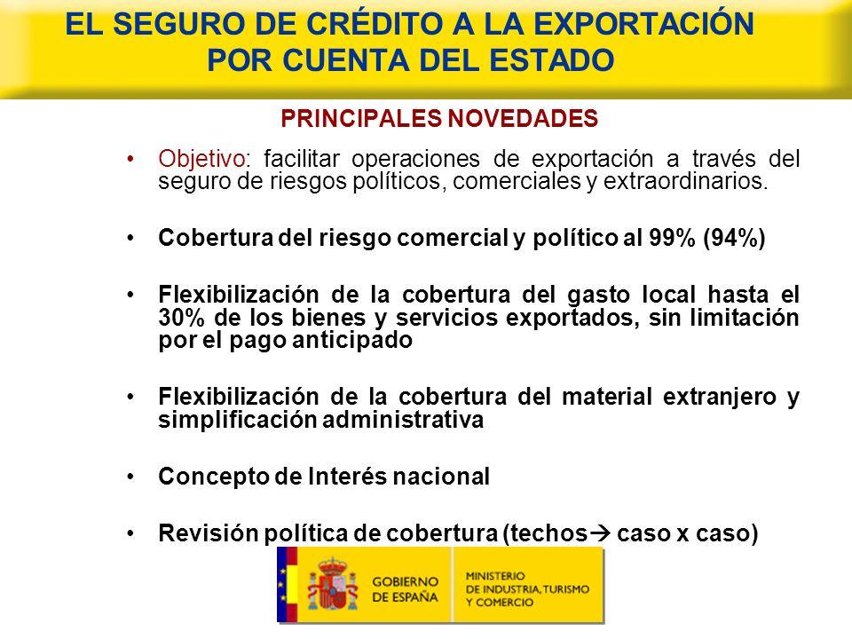 EL CONVENIO DE AJUSTE RECÍPROCO DE INTERESES (CARI) PRINCIPALES NOVEDADES Objetivo: Facilitar exportación ofreciendo financiación a largo plazo a tipo de interés fijo.
