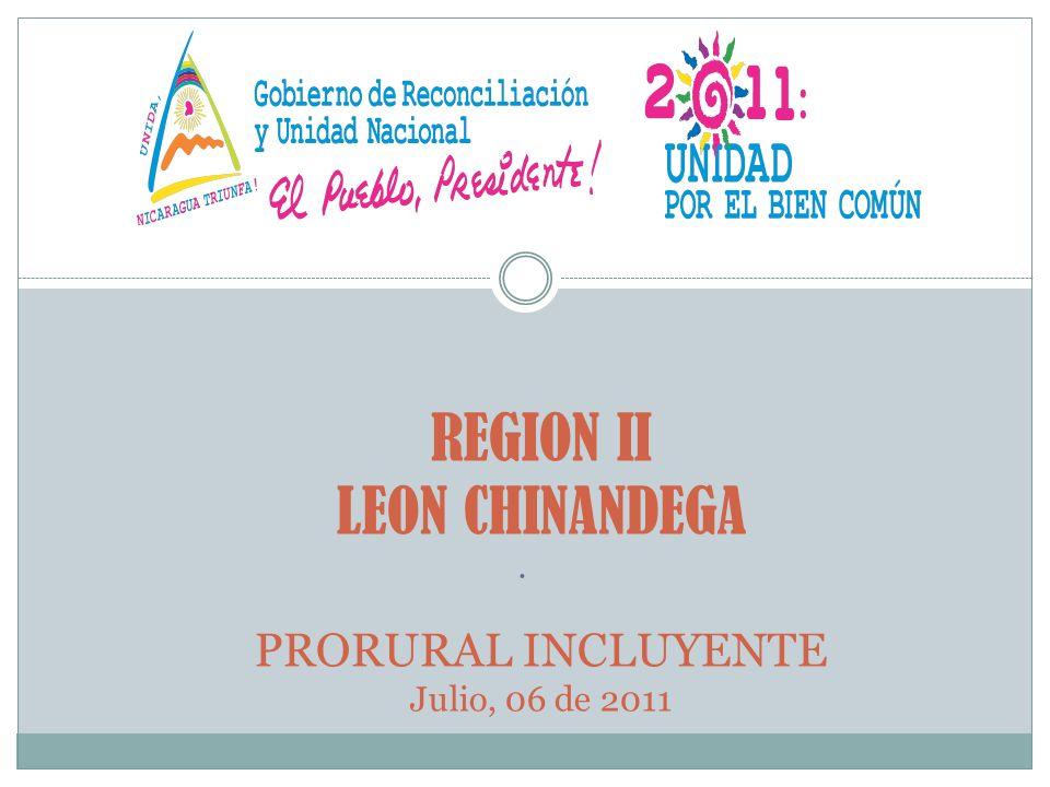 REGION II LEON CHINANDEGA PRORURAL INCLUYENTE Julio, 06 de 2011.