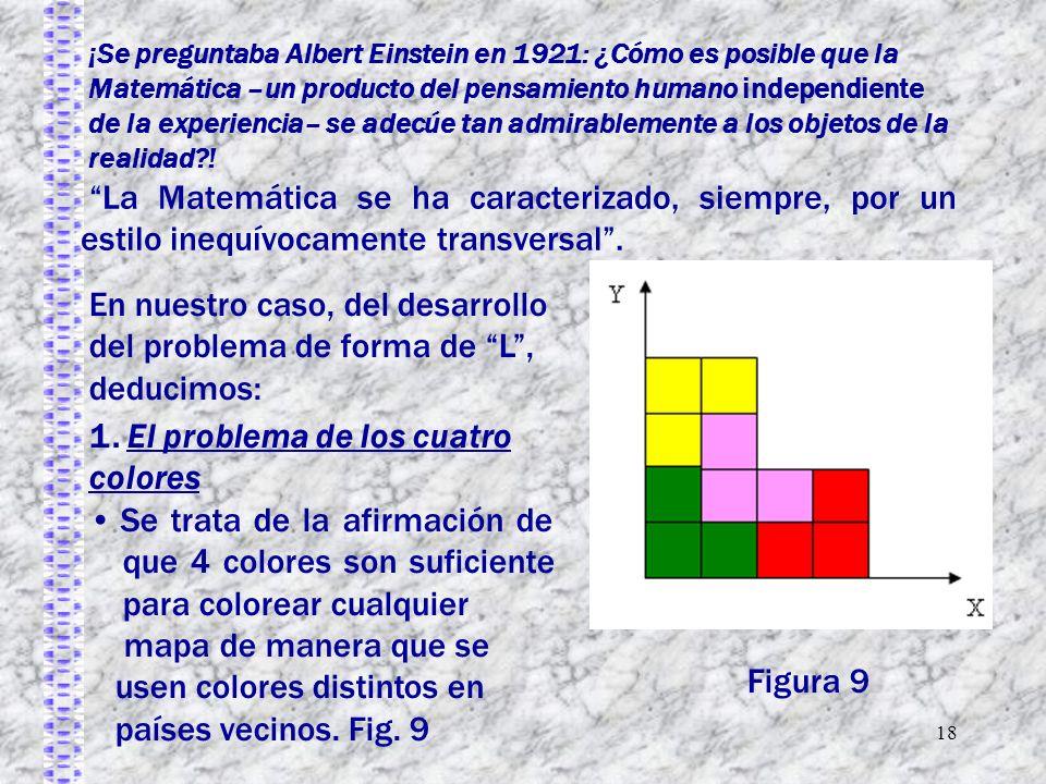 18 ¡Se preguntaba Albert Einstein en 1921: ¿Cómo es posible que la Matemática –un producto del pensamiento humano independiente de la experiencia– se adecúe tan admirablemente a los objetos de la realidad .