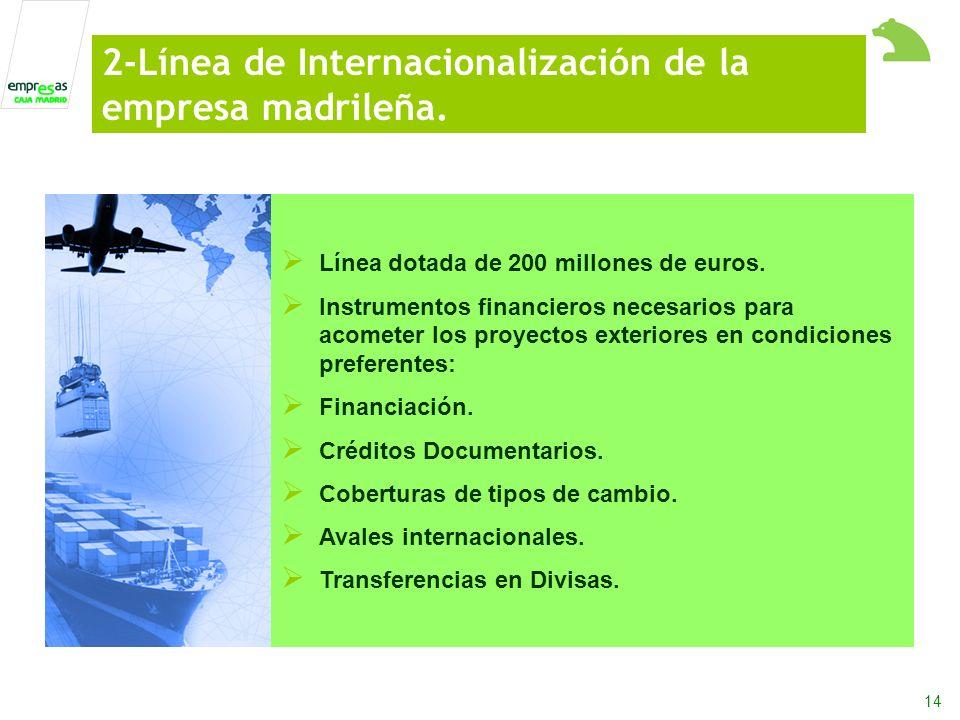 14 Línea dotada de 200 millones de euros.