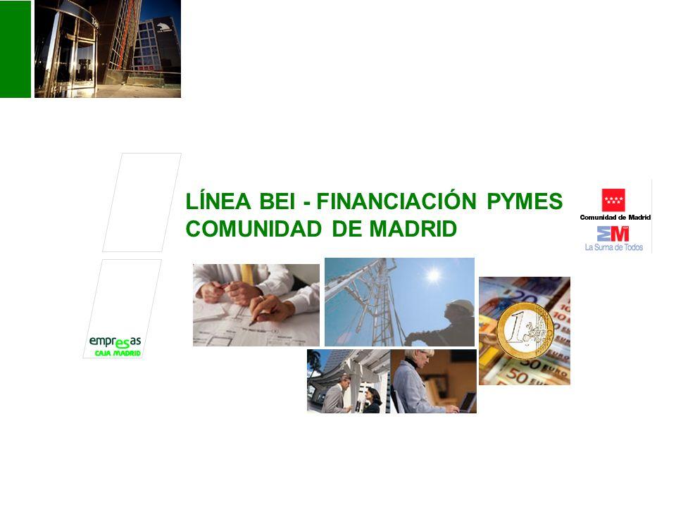 LÍNEA BEI - FINANCIACIÓN PYMES COMUNIDAD DE MADRID