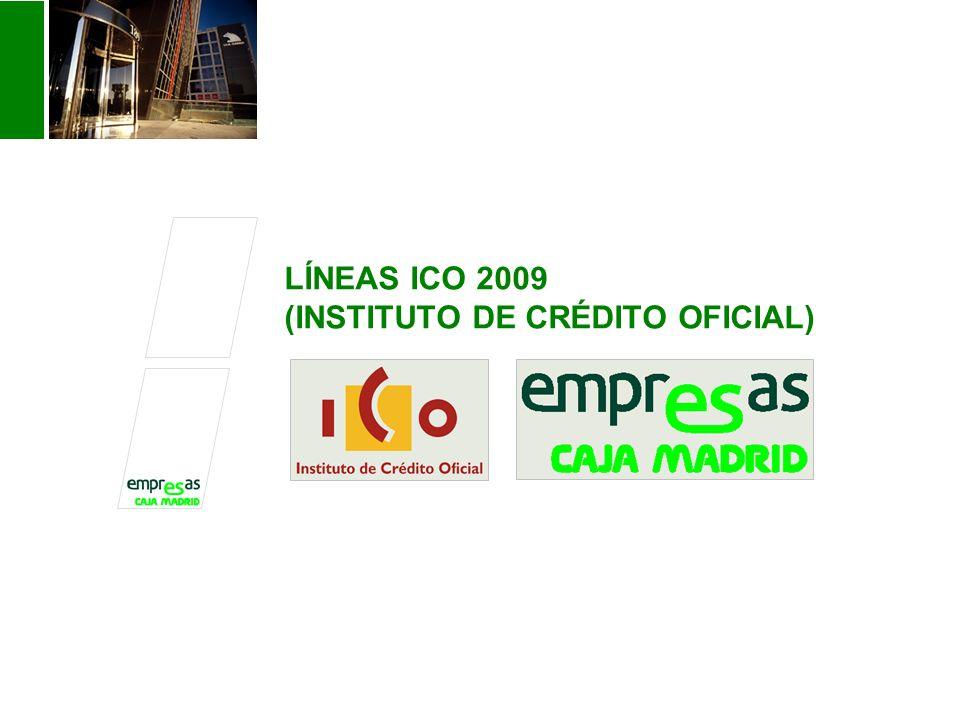 LÍNEAS ICO 2009 (INSTITUTO DE CRÉDITO OFICIAL)