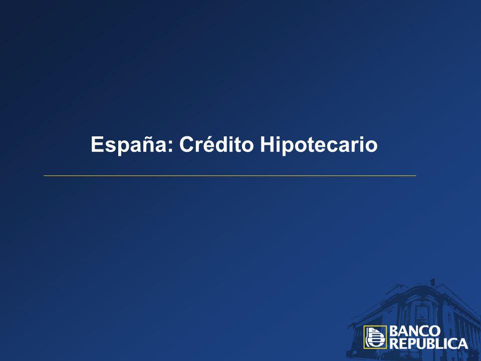 España: Crédito Hipotecario