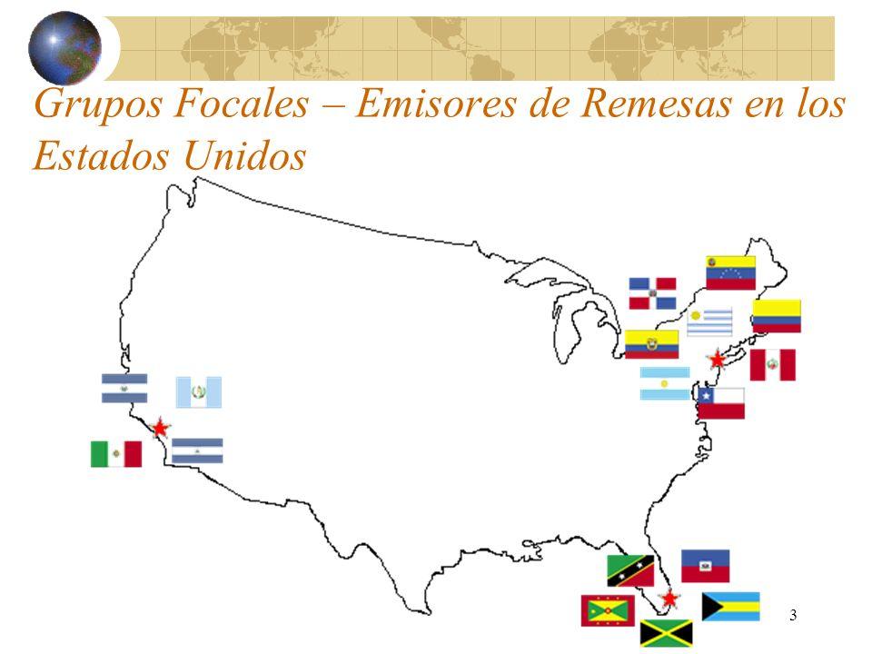 3 Grupos Focales – Emisores de Remesas en los Estados Unidos