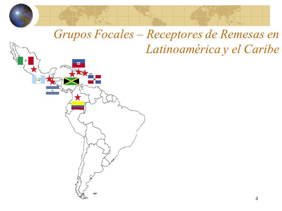 4 Grupos Focales – Receptores de Remesas en Latinoamérica y el Caribe
