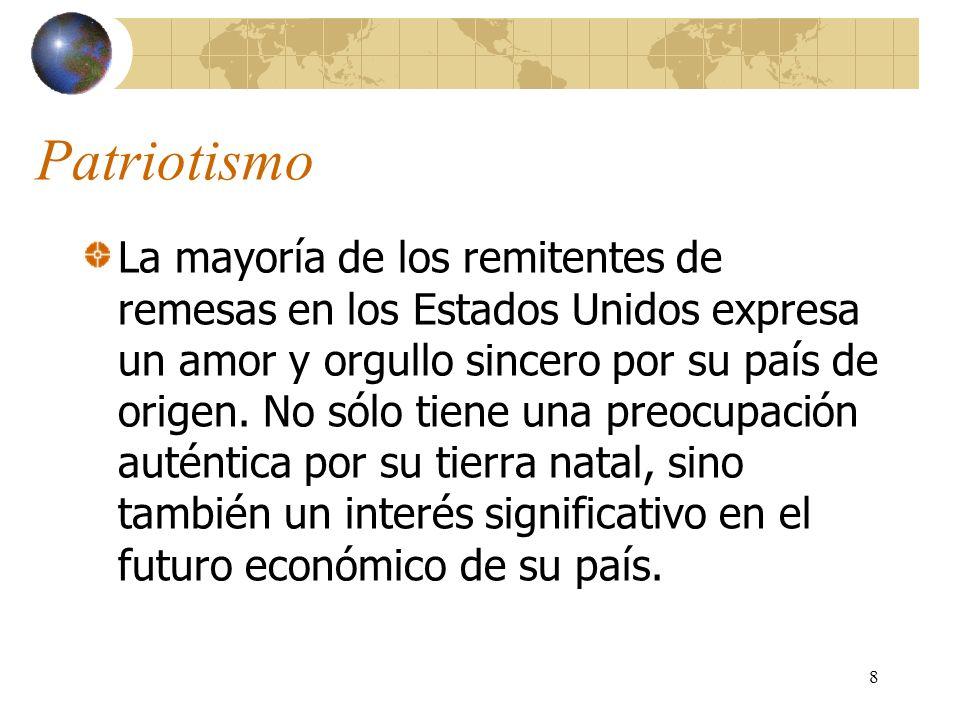 9 ¿Cuánto interés tiene usted en el futuro económico de su tierra natal?
