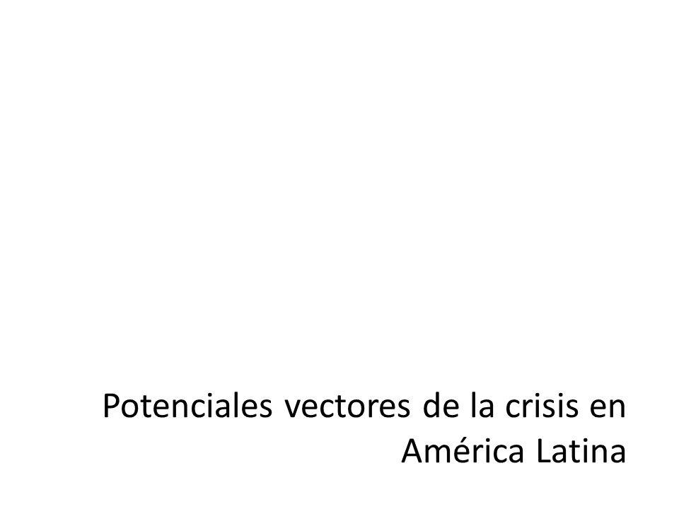 Potenciales vectores de la crisis en América Latina