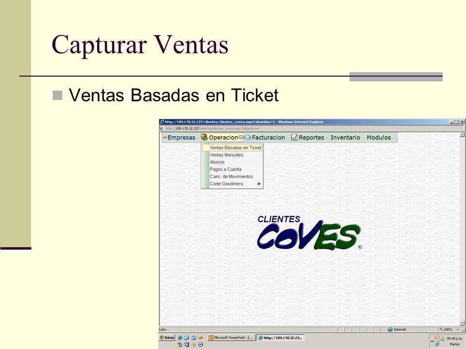 Facturacion Credito Tickets