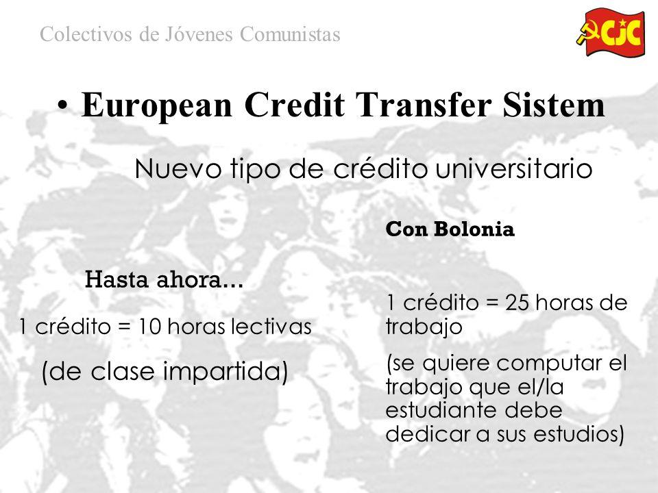 Colectivos de Jóvenes Comunistas BOLONIA European Credit Transfer Sistem GRADOS