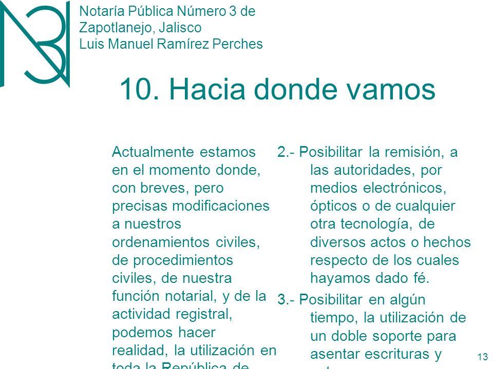 Notaría Pública Número 3 de Zapotlanejo, Jalisco Luis Manuel Ramírez Perches 12 9.