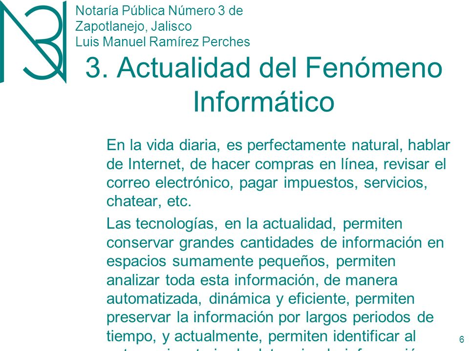 Notaría Pública Número 3 de Zapotlanejo, Jalisco Luis Manuel Ramírez Perches 5 2.