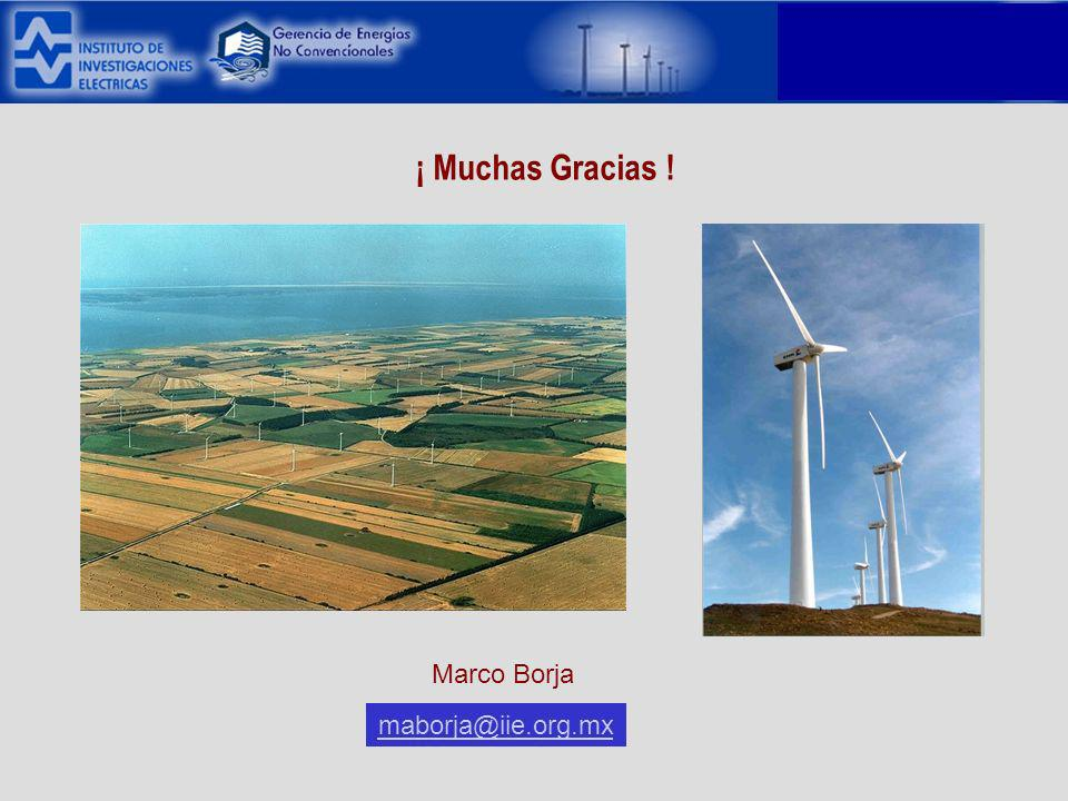 ¡ Muchas Gracias ! maborja@iie.org.mx Marco Borja