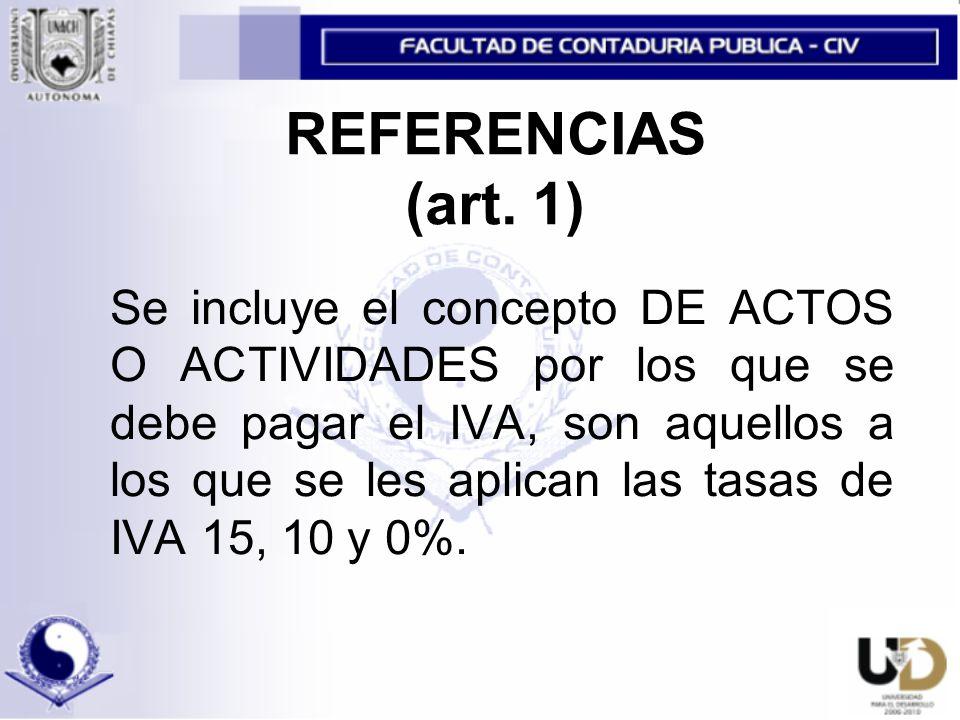 REFERENCIAS (art.