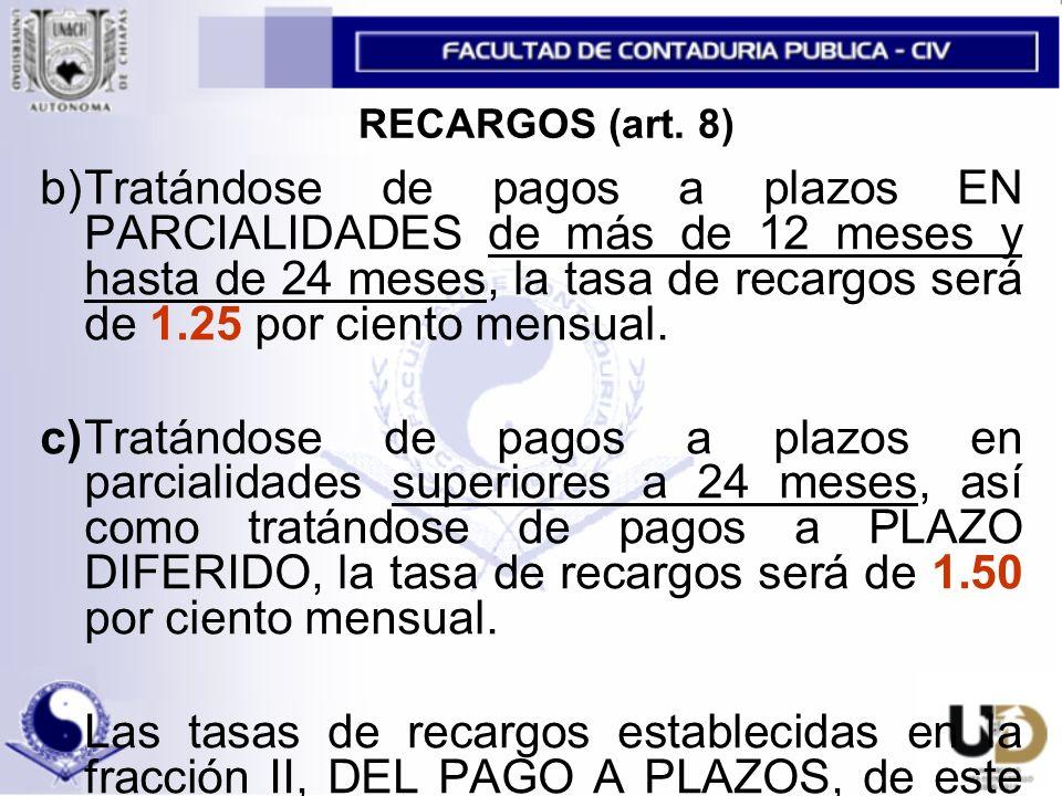 RECARGOS (art.