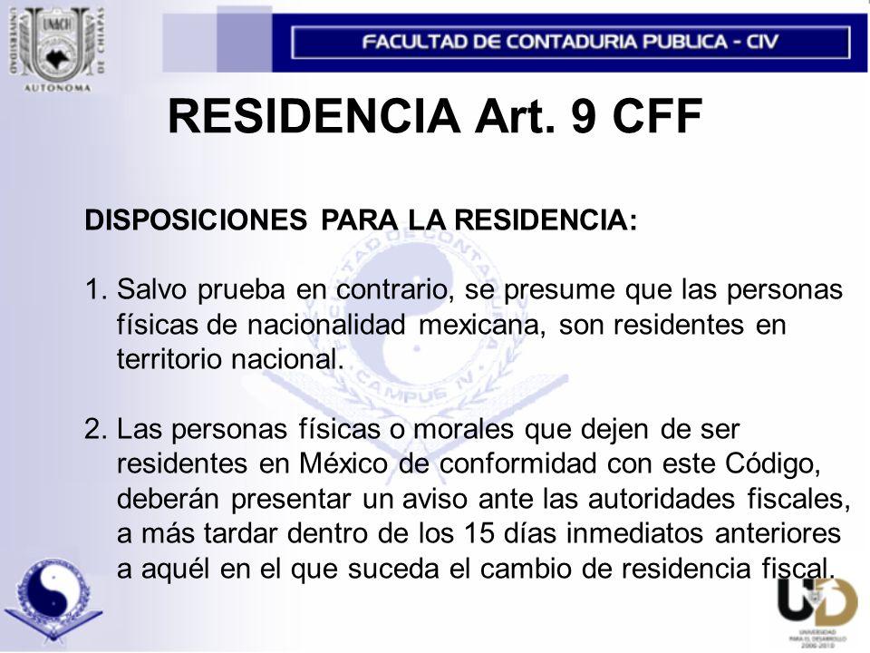 RESIDENCIA Art.