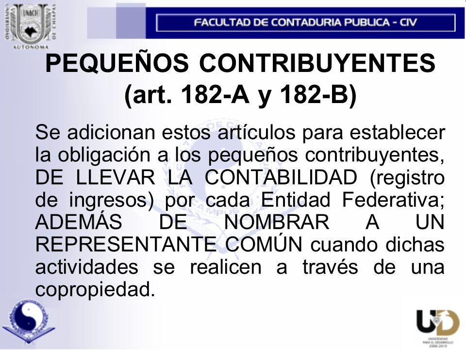 PEQUEÑOS CONTRIBUYENTES (art.