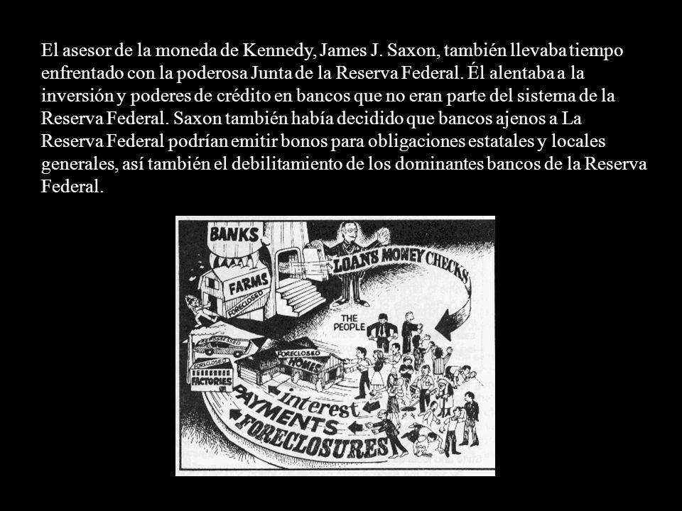Pisó en este terreno el 4 de junio de 1963, mediante la firma de la Orden Ejecutiva 11110 que ordenó la emisión de 4.292.893.815 de dólares en billete
