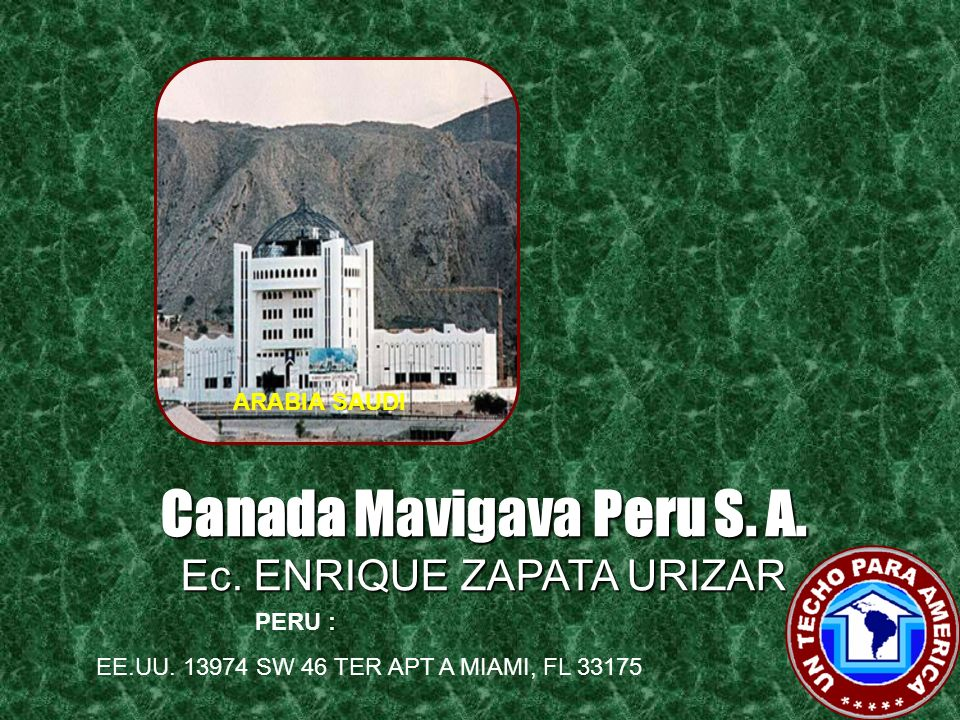 Profusso Investment Corp. Inc. Ing. MARIO HERNANDEZ PANAMA : ESPAÑA EE.UU. 13974 SW 46 TER APT A MIAMI, FL 33175