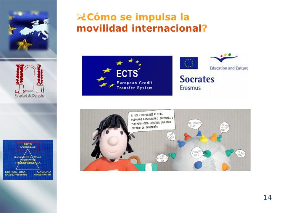 14 ¿Cómo se impulsa la movilidad internacional?