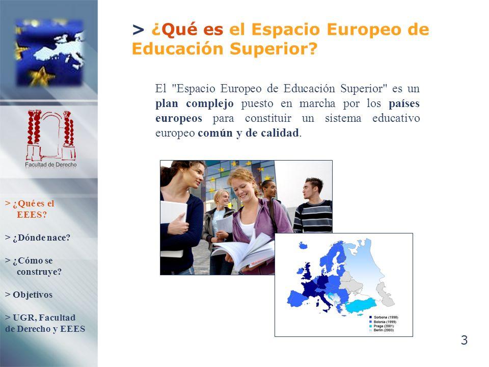 4 > ¿Dónde nace el Espacio Europeo de Educación Superior.
