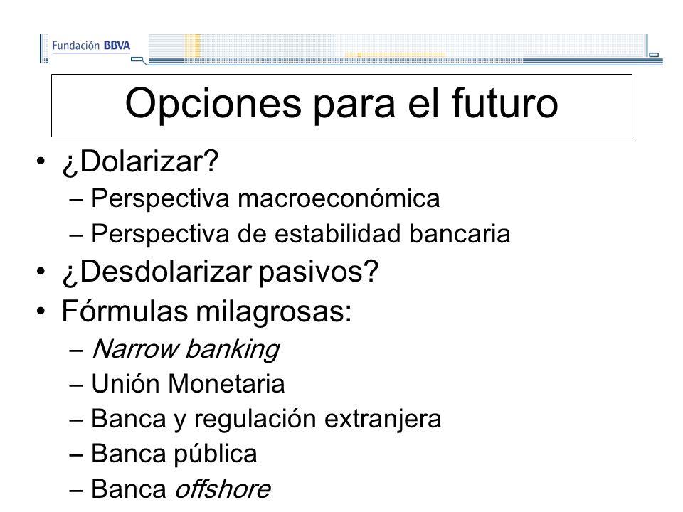 Opciones para el futuro ¿Dolarizar.
