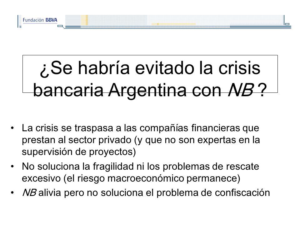 ¿Se habría evitado la crisis bancaria Argentina con NB .
