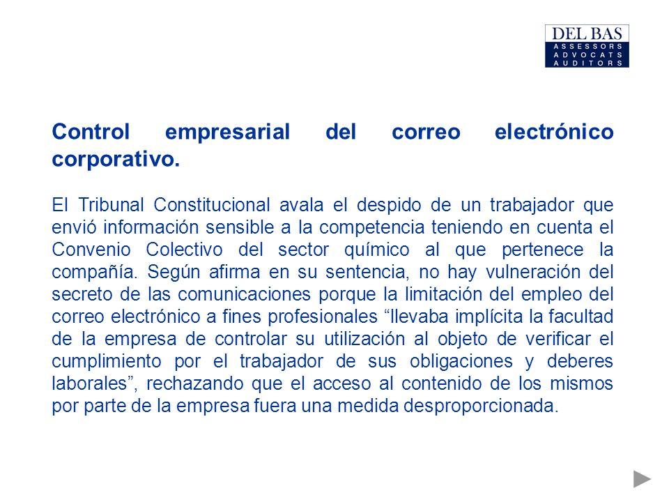 Control empresarial del correo electrónico corporativo.