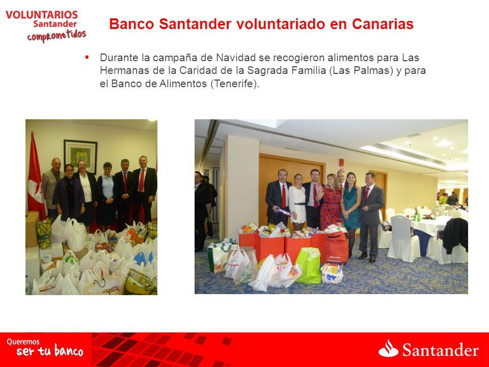 Durante la campaña de Navidad se recogieron alimentos para Las Hermanas de la Caridad de la Sagrada Familia (Las Palmas) y para el Banco de Alimentos (Tenerife).