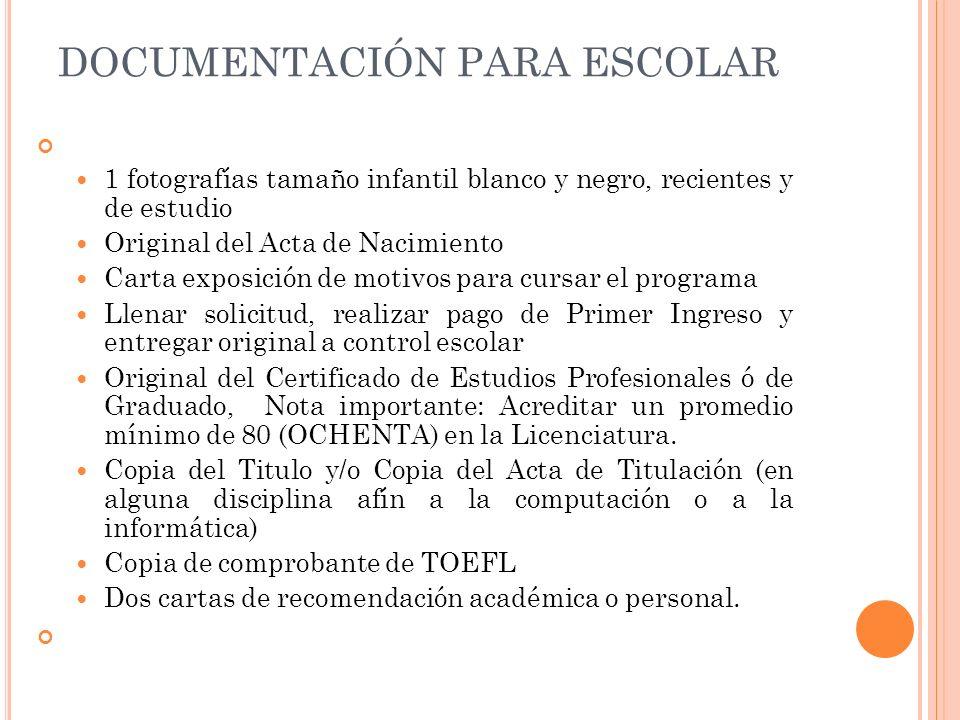 DOCUMENTACIÓN PARA ESCOLAR 1 fotografías tamaño infantil blanco y negro, recientes y de estudio Original del Acta de Nacimiento Carta exposición de mo