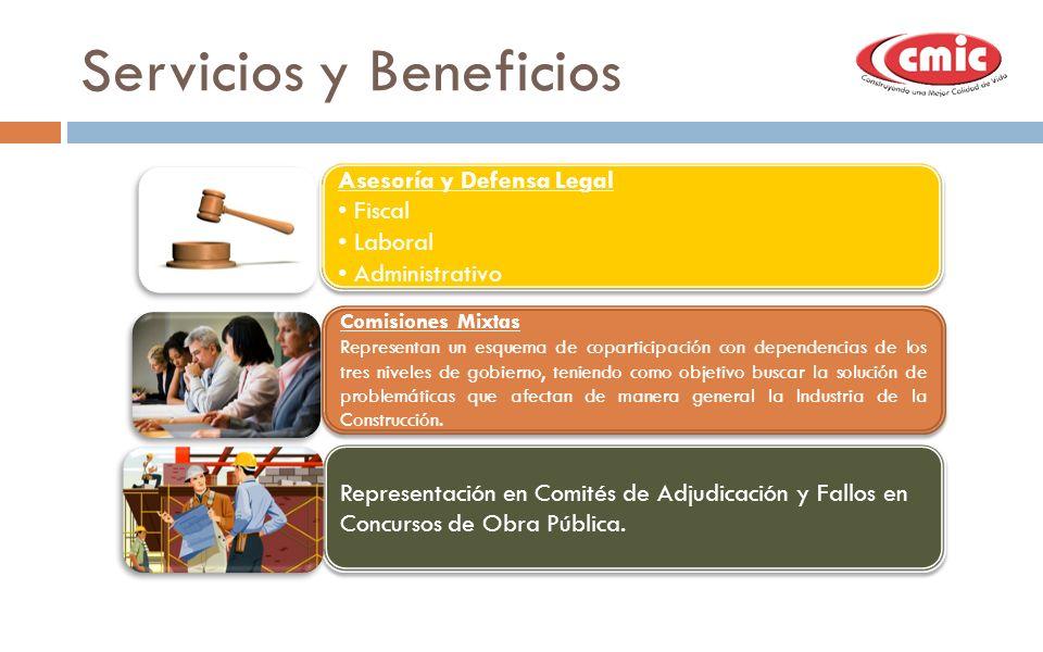 Servicios y Beneficios Asesoría y Defensa Legal Fiscal Laboral Administrativo Asesoría y Defensa Legal Fiscal Laboral Administrativo Comisiones Mixtas