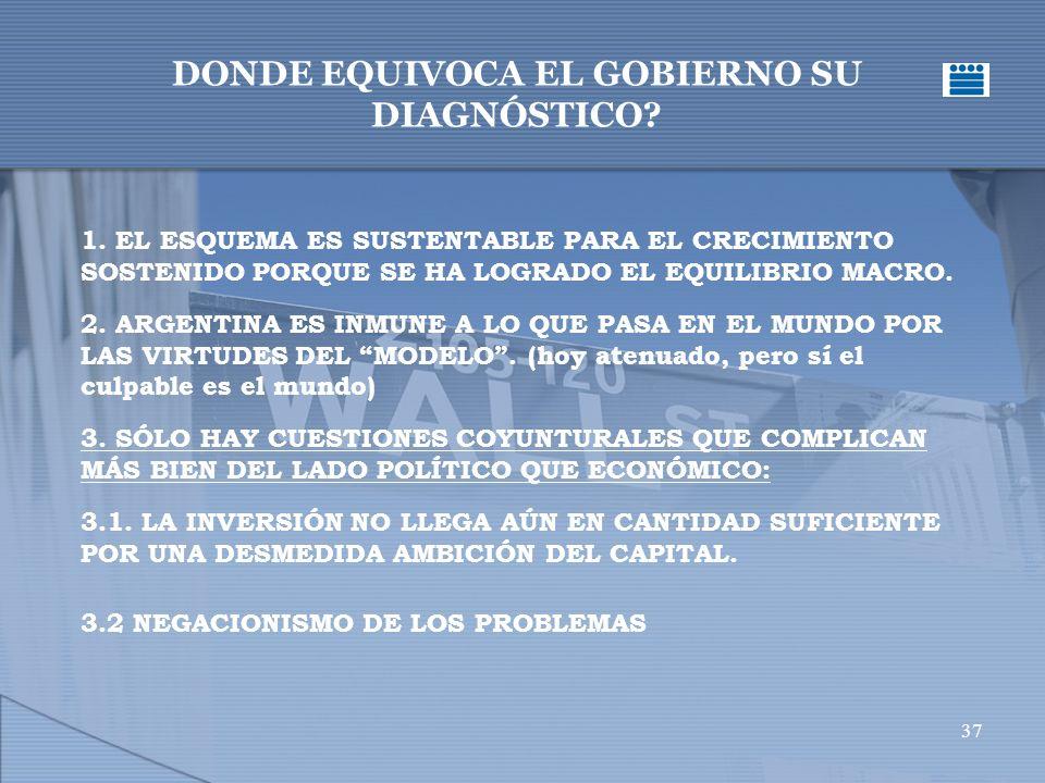 37 DONDE EQUIVOCA EL GOBIERNO SU DIAGNÓSTICO.1.