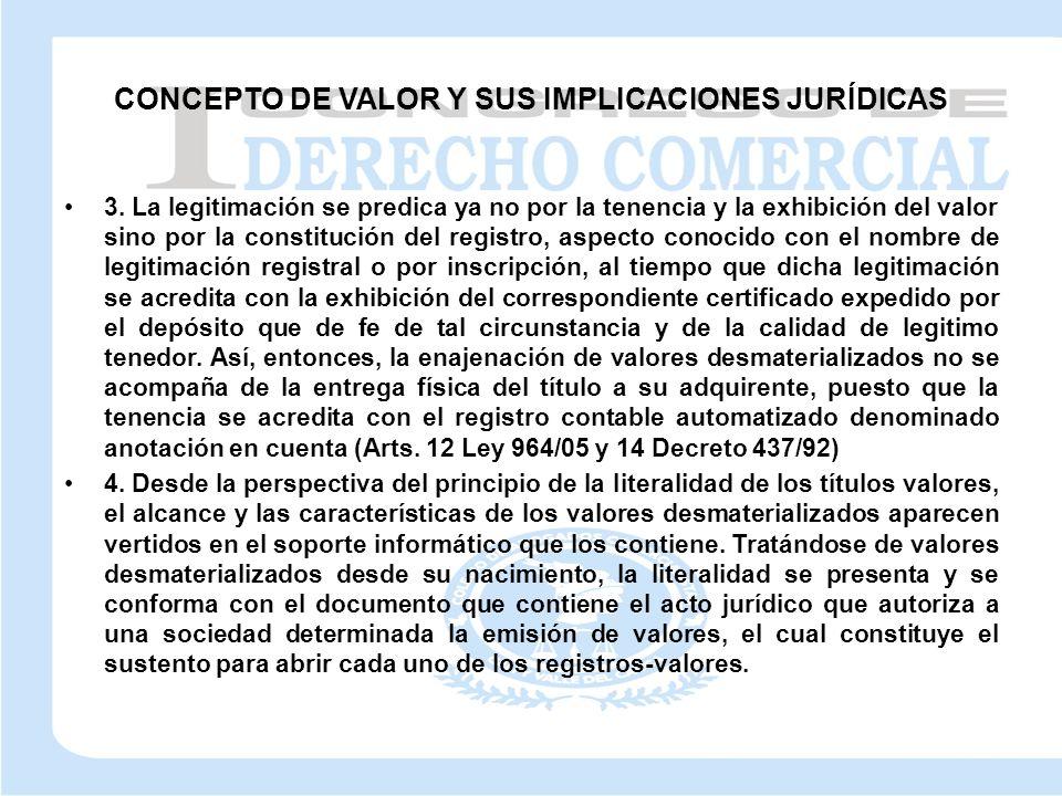 CONCEPTO DE VALOR Y SUS IMPLICACIONES JURÍDICAS 3.